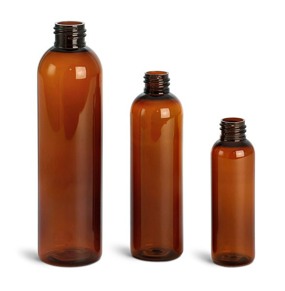 PET Amber Round Spray Bottles